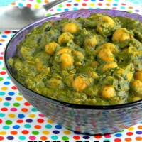 CHANA SAAG RECIPE / SPINACH CHICKPEAS CURRY