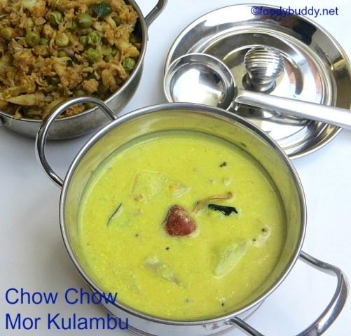 chow chow mor kulambu recipe
