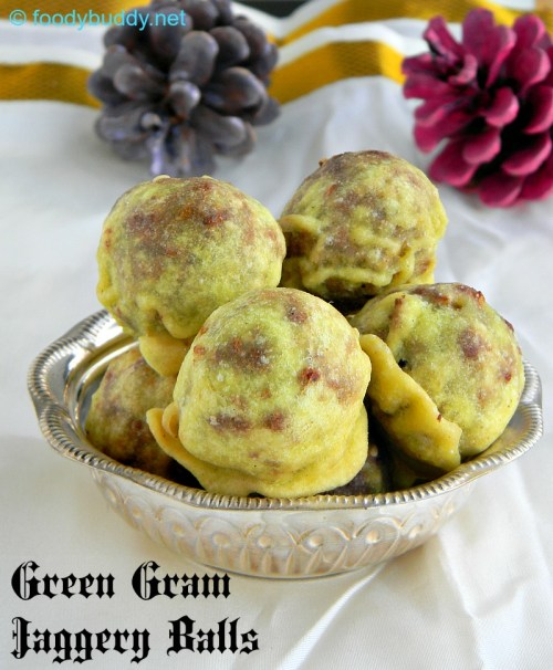 green gram jaggery balls