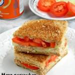 Cucumber Tomato Sandwich Recipe / Picnic Sandwich