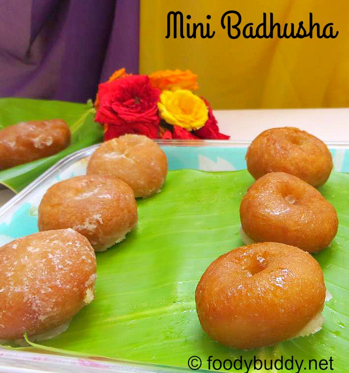 Mini Badhusha Recipe / Diwali Sweet Recipe