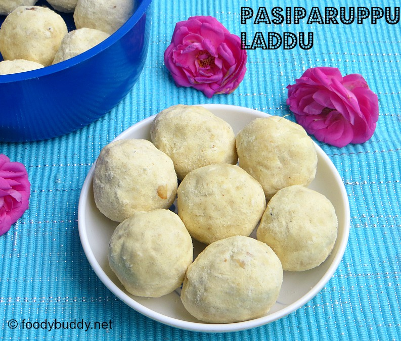 Pasiparuppu Laddu Recipe / Moong Dal Ladoo Recipe