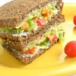 Yogurt Veg Sandwich / Curd Sandwich