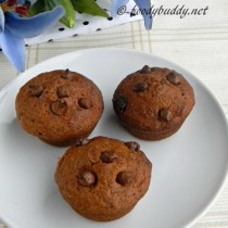 Eggless Chocolate Chips Muffins