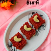 Beetroot Burfi Recipe / Beetroot Coconut Burfi