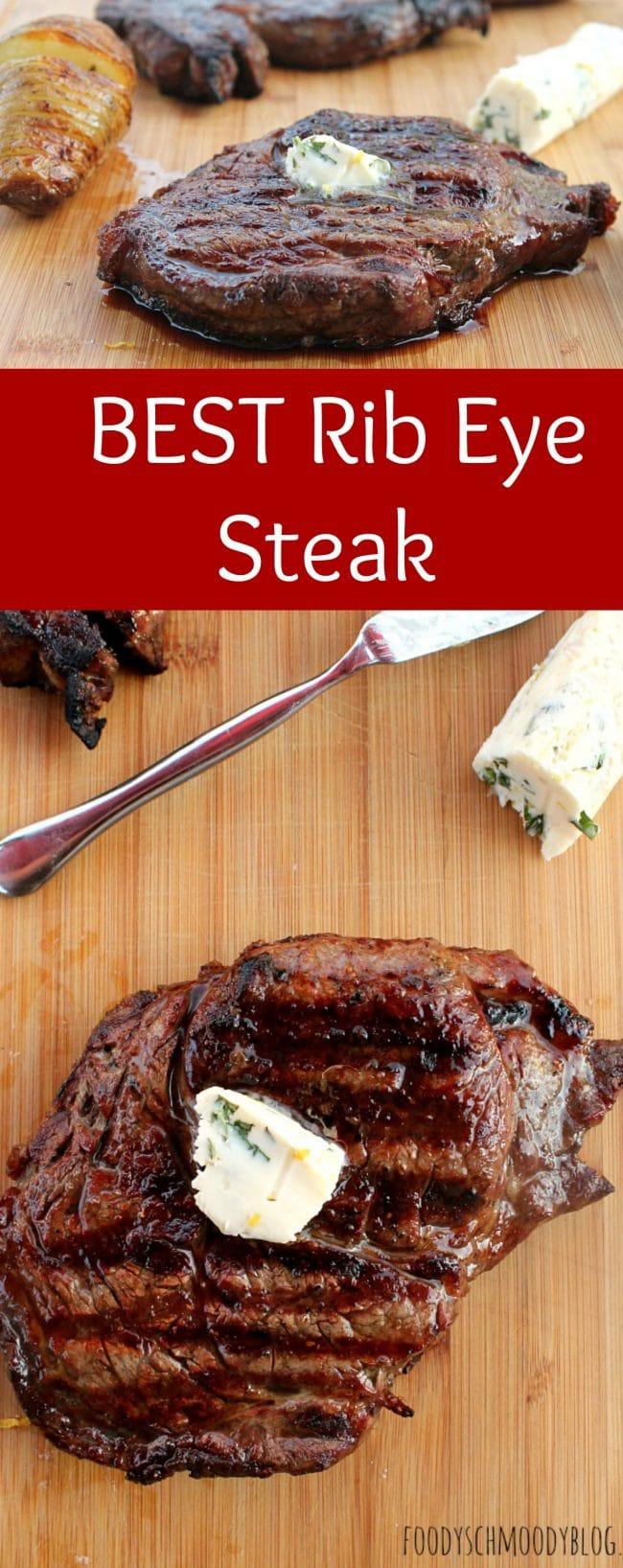 My Best Rib Eye Steak Recipe - Foody Schmoody Blog | Foody Schmoody Blog