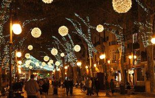 Christmas lights in Palma