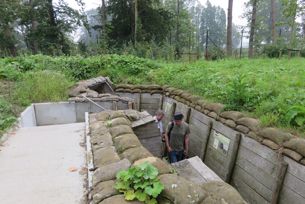 walking through the trenches
