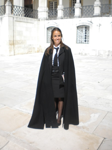 Hogwarts cloak at Coimbra University