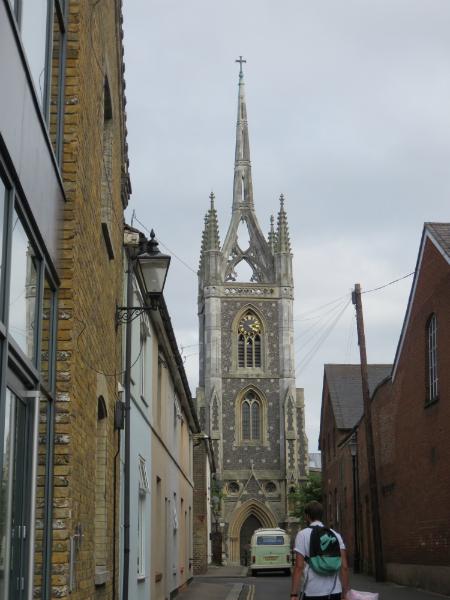 Faversham Church Unusual crown spire