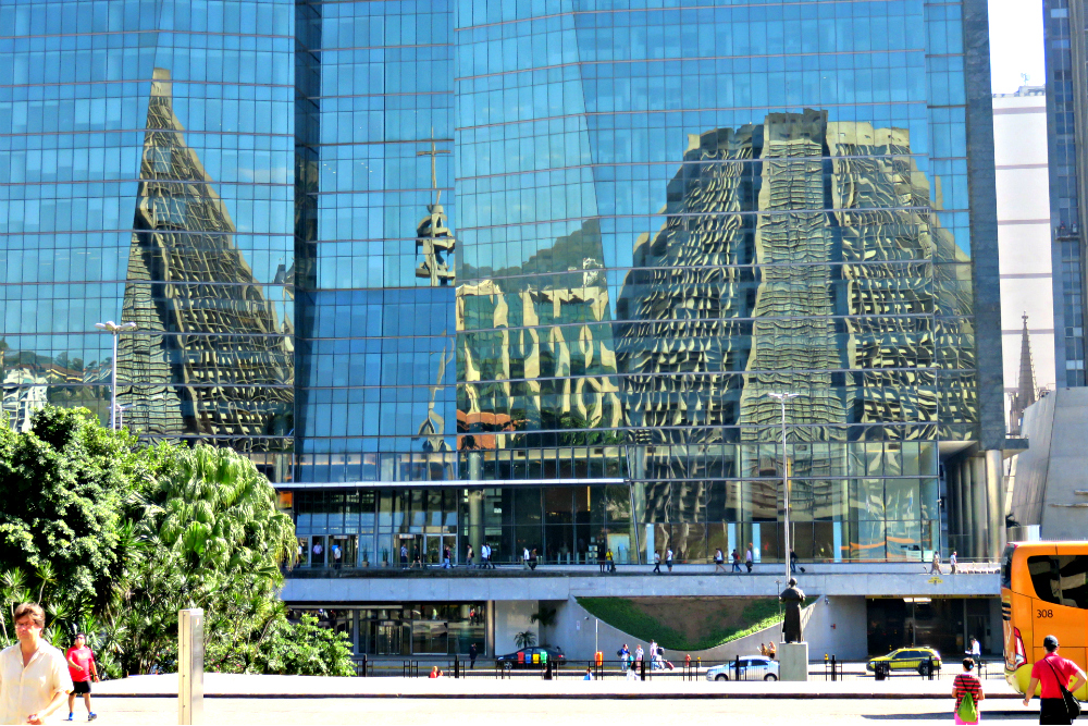 Rio Metropolitan Cathedral reflection