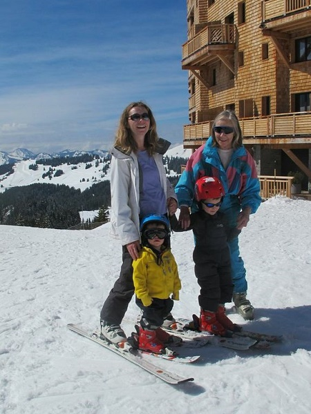 Three generations on the slopes