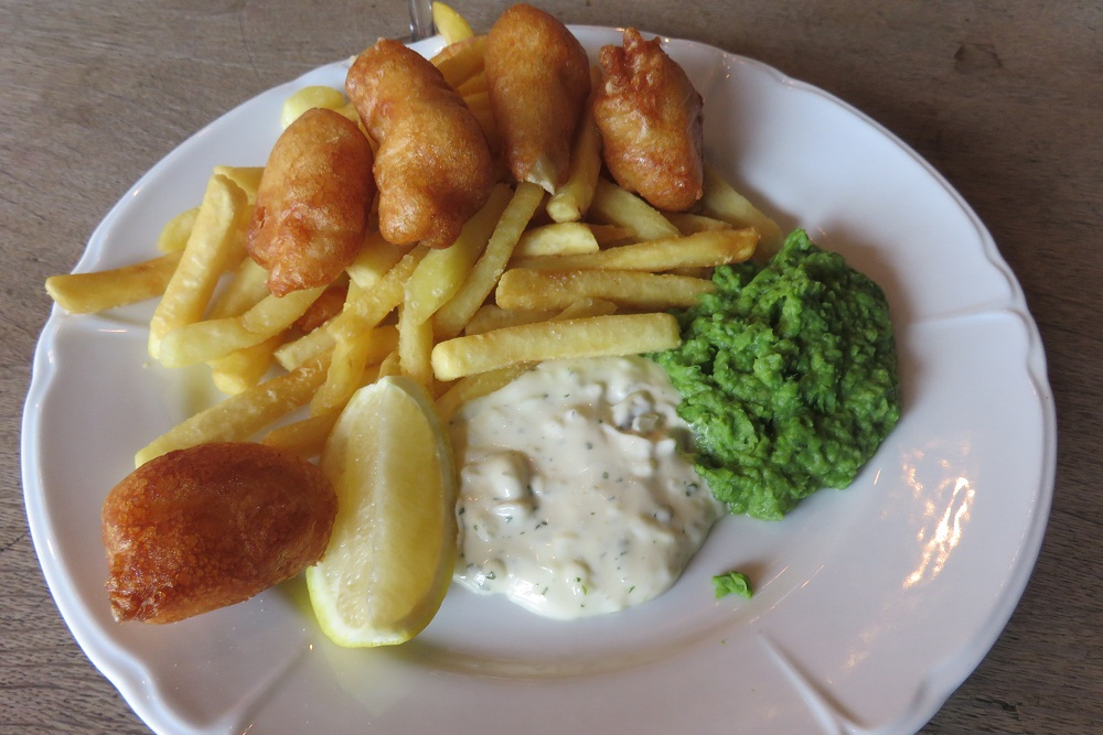 Alice House monkfish and chips