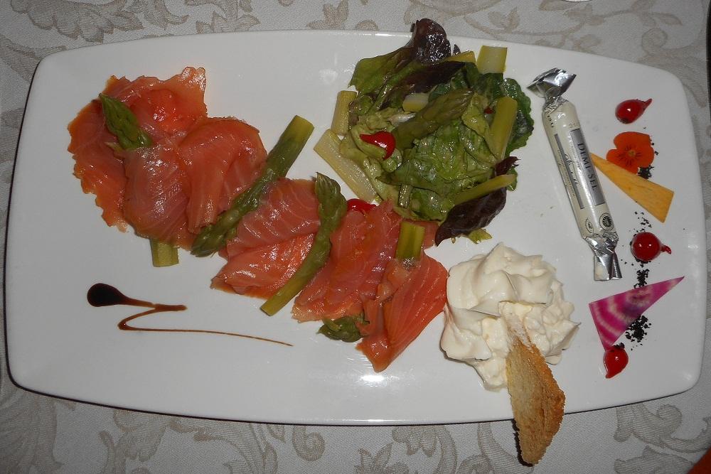 Gourmet menu at La Soldanelles restaurant at La Toussuire