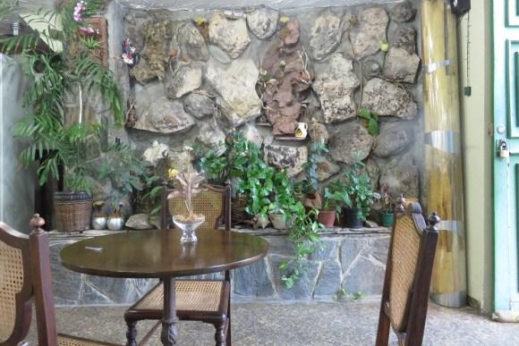 Bahia breakfast terrace and fountain