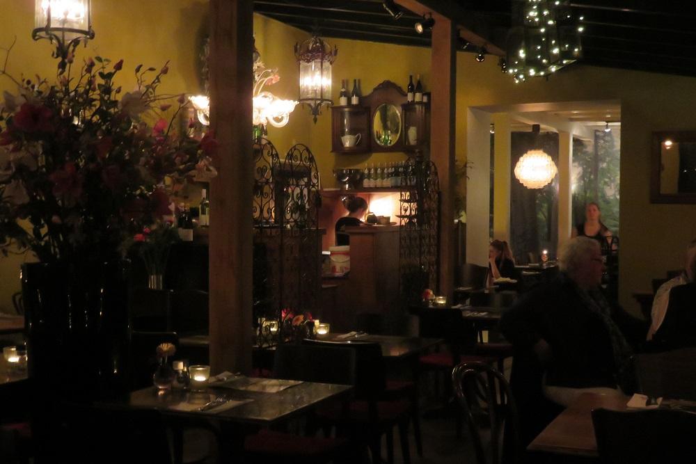 Utrecht Dinner in a restaurant with a lovely garden