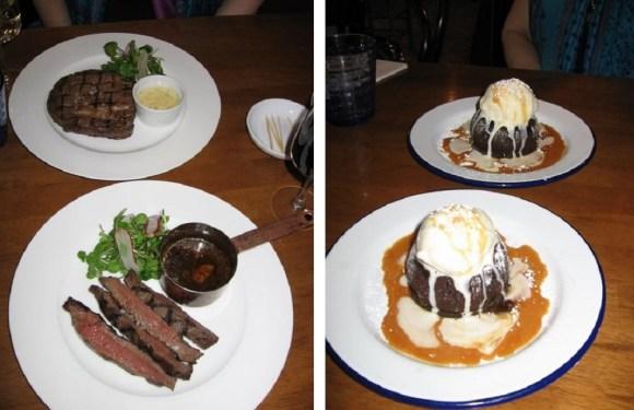 bordelaise main and dessert