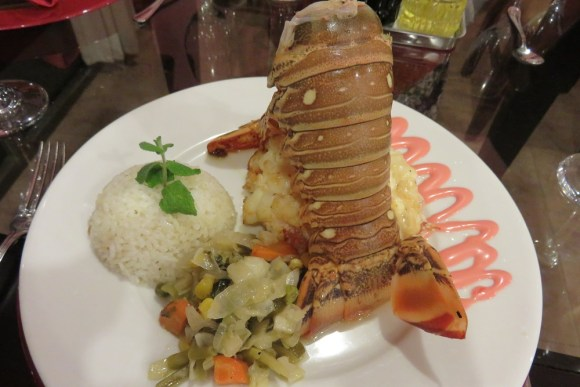 IMG 7615 Trinidad eating lobster