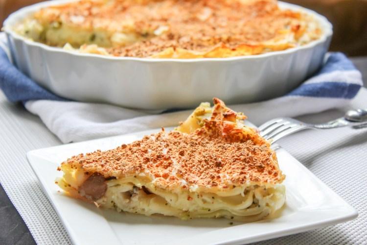 Lasagna Mushroom Quiche