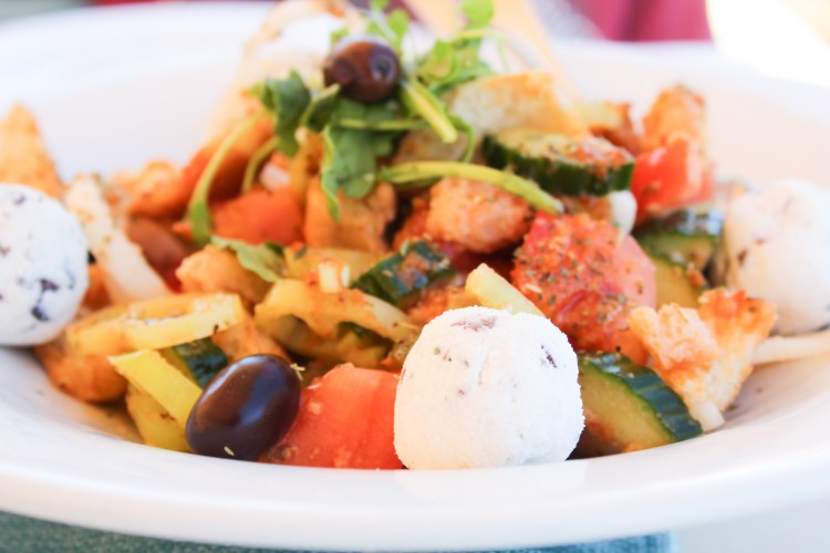 Gourmet Greek Salad with Feta & Olive Cheese Balls