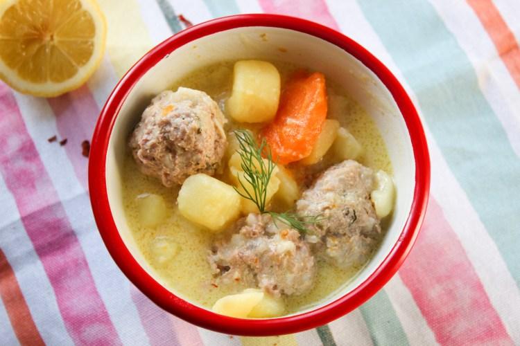 Greek Lemon taste Meat Ball Stew