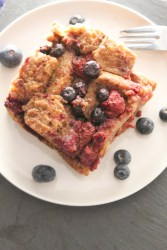 Honey baked French Toast with Fruits