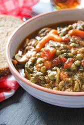 Spinach Mushroom Vegetable Stew