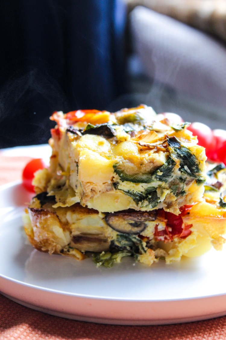 Baked Veggie and Potato Omelete Recipe