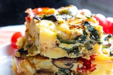 Baked Veggie and Potato Omelete Recipe
