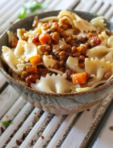 Lental Carrot with Farfalle Pasta Recipe