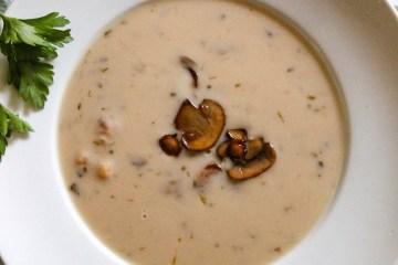 Soup, Mushrooms, Roasted
