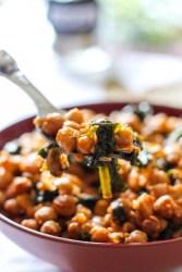 #chickpea #spinach #bowl #tomato #chiliflakes