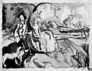 """1727-1788. 23""""-29"""". ink on paper"""
