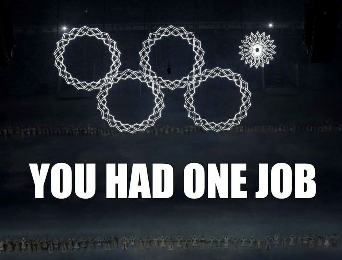 olympic rings you had one job