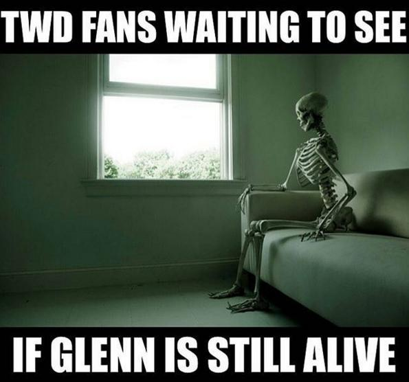 twd waiting to see if glenn is alive