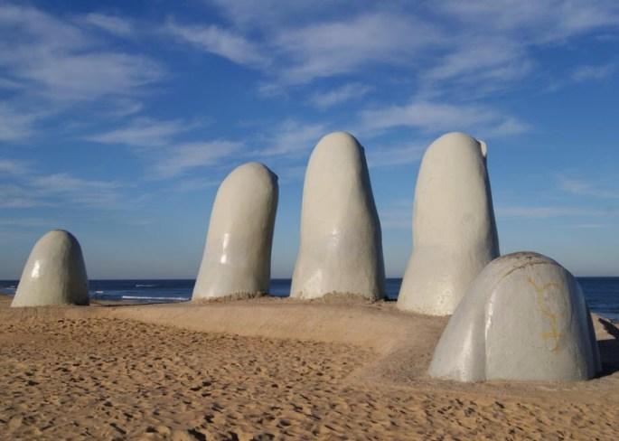 hand sculpture uruguay