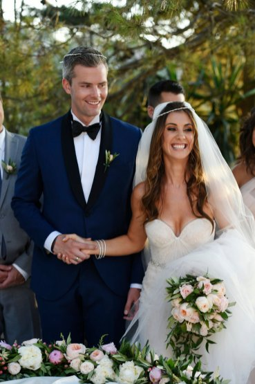 MILLION DOLLAR LISTING NEW YORK: RYAN'S WEDDING -- Pictured: (l-r) Ryan Serhant, Emilia Bechrakis -- Photo by: Dimitrios Kambouris/NBC