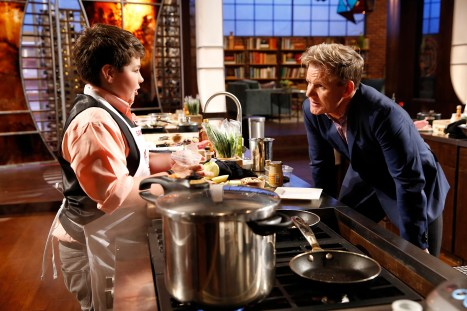 """MASTERCHEF: L-R: Contestant Samuel and Chef Ramsay in the """"Junior Edition: The Next Generation"""" Season Premiere episode of MASTERCHEF airing Tuesday, Nov. 4 (8:00-9:00PM ET/PT) on FOX."""