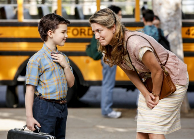 "YOUNG SHELDON is a new half-hour, single-camera comedy created by Chuck Lorre and Steven Molaro, that introduces ""The Big Bang Theory's"" Sheldon Cooper (Iain Armitage), a 9-year-old genius living with his mother (Zoe Perry), father and two siblings in East Texas and going to high school. YOUNG SHELDON will have a special Monday launch behind the season premiere of THE BIG BANG THEORY on Sept. 25 (8:30-9:00 PM, ET/PT). On Nov. 2, YOUNG SHELDON will move to its regular time period, Thursdays (8:30-9:00 PM, ET/PT) on the CBS Television Network. Photo: Robert Voets/CBS ©2017 CBS Broadcasting, Inc. All Rights Reserved."
