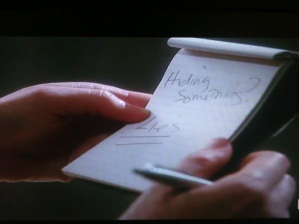 lana's notes AHS LIES hidin something