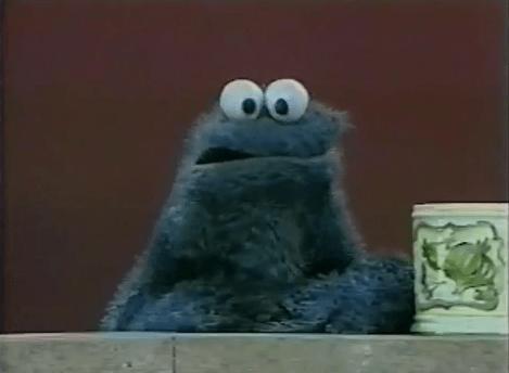 sad cookie monster
