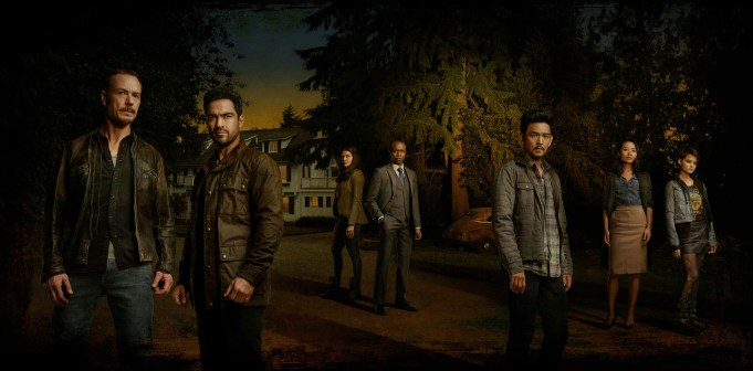 THE EXORCIST: L-R: Ben Daniels, Alfonso Herrera, Zuleikha Robinson, Kurt Egyiawan, John Cho, Li Jun Li and Brianna Hildebrand in THE EXORCIST premiering Friday, Sept. 29 (9:00-10:00 PM ET/PT) on FOX. ©2017 Fox Broadcasting Co. Cr: Mathieu Young/FOX