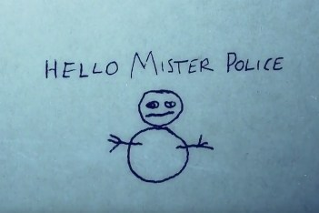 the snowman hello mister police