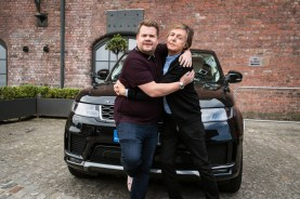Paul McCartney joins James Corden for Carpool Karaoke in London on THE LATE LATE SHOW WITH JAMES CORDEN, scheduled to air Thursday, June 21st, 2018 (12:37-1:37 AM, ET/PT) on the CBS Television Network. Photo: Craig Sugden/CBS ©2018 CBS Broadcasting, Inc. All Rights Reserved