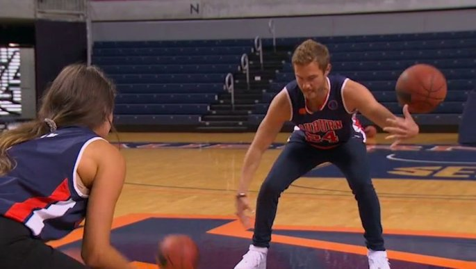 the bachelor basketball peter clumbsy bad