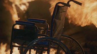 walkabout lost wheelchair fire
