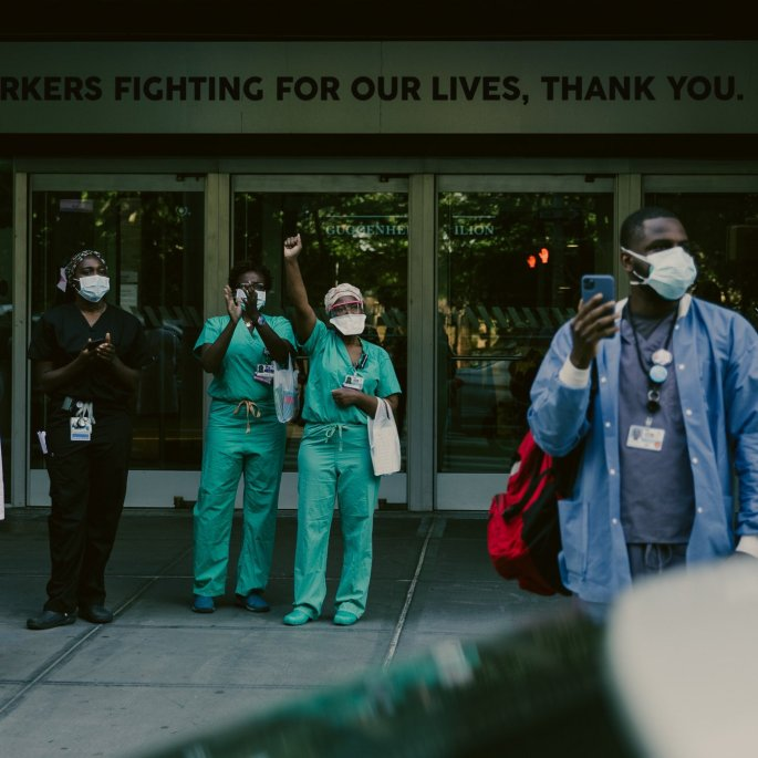 hospital workers protest