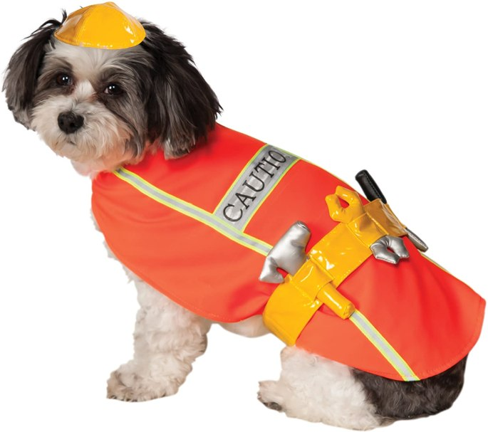 dog construction worker costume