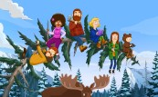 THE GREAT NORTH: A new animated comedy that follows the Alaskan adventures of the Tobin family, as a single dad does his best to keep his weird bunch of kids close. THE GREAT NORTH will have a special preview on Sunday, Jan. 3 (8:30-9:00 PM ET/PT), ahead of its series premiere on Sunday, Feb. 14 (8:30-9:00 PM ET/PT), on FOX. L-R: Wolf (Will Forte), Honeybee (Dulcé Sloan), Beef (Nick Offerman), Judy (Jenny Slate), Ham (Paul Rust) and Moon (Aparna Nancherla). THE GREAT NORTH © 2021 by Twentieth Century Fox Film Corporation and Fox Media LLC. Artwork © 2021 by Fox Media LLC.