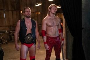 Heels Season 1 2021 DWL Arena; Ace Spade (Alexander Ludwig); Jack Spade (Stephen Amell)